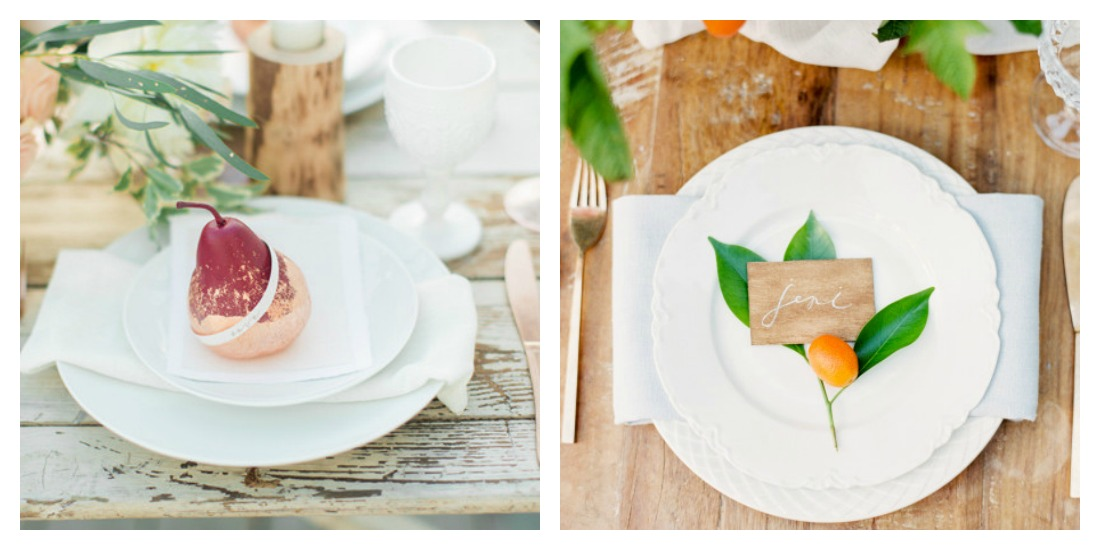 Wedding Table Setting with base plate