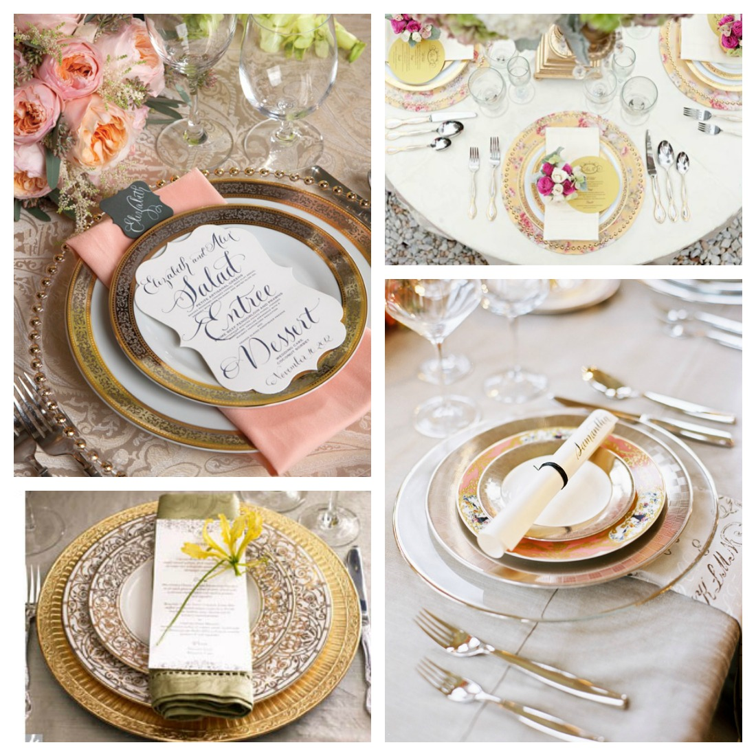 Wedding table setting design for Table setting design