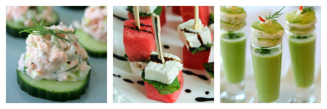 Cold Hors D'oeuvres for summer weddings