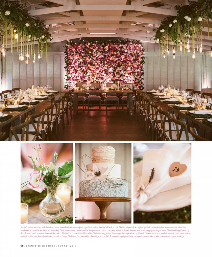 Flower wall at head table