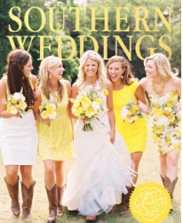 Southern Weddings Cover for Christina Baxter article: Carly & Spence