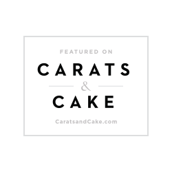 Carats & Cake logo for Christina Baxter Wedding Events featured article