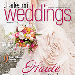 Charleston Weddings Cover for Christina Baxter featured article: Chill Out: Indoor Summer Weddings