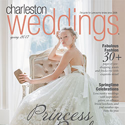 Charleston Weddings Cover for Christina Baxter featured article: Rose & Joey