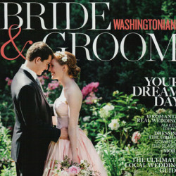 Washington Bride & Groom Cover for Christina Baxter Article: Logistics of a Wedding Weekend