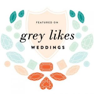 Logo for Grey Likes Weddings, Christina Baxter Weddings + Events feature